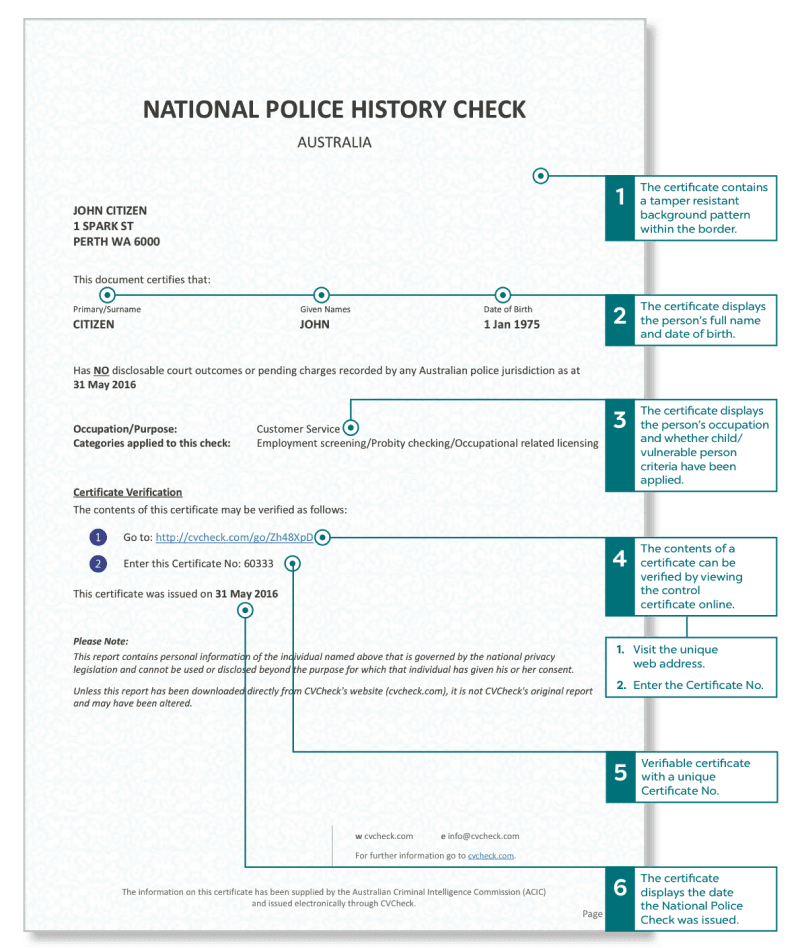 National Police Check Online | National Police Clearance Certificates
